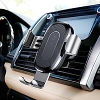 Giá đỡ điện thoại kiêm sạc không dây cài hốc gió trên xe ô tô nhãn hiệu Baseus WXYL-01 Quickcharge Qc 3.0, công suất đầu ra lên tới 10W - Hàng chính hãng