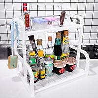 Kệ đựng gia vị nhà bếp 2 tầng thông minh  (Màu ngẫu nhiên)