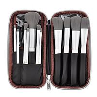 Bộ cọ trang điểm MSQ 12 cây với túi đựng MSQ 12pcs Charcoal Fibre Brushes Set