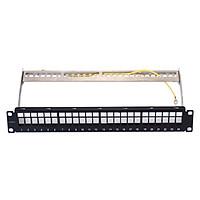 Bảng cắm Patch panel VIVANCO CAT.6A 24 port Shielded - Hàng Chính Hãng