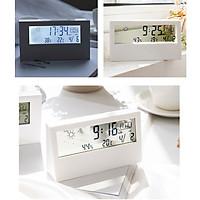 Đồng hồ điện tử có đèn nền màn hình hiển thị LCD ĐHCĐ ( Xem lịch, nhiệt độ, độ ẩm -Tặng kèm quạt mini cắm cổng USB màu ngẫu nhiên )