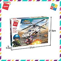 Bộ Đồ Chơi Xếp Hình Thông Minh Lego Quân Sự Qman Máy Bay Trực Thăng Tấn Công 3211 Cho Trẻ Từ 6 Tuổi 352 Mảnh Ghép