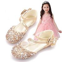 Giày búp bê công chúa kim sa đính đá cho bé gái 20985