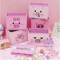 Pink Xinh Decor hộp đựng bút viết đồ cá nhân