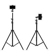 Giá đỡ tripod cao cấp 3 chân kéo cao 2m gắn đèn led, hỗ trợ livestream, chụp hình, quay video, kèm dây đeo điện thoại TiMa.lala - Hàng chính hãng