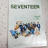 Photobook album ảnh Seventeen khổ A4 mới  nhất tặng vòng tay chỉ đỏ may mắn