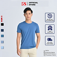 Áo Thun Nam Ngắn Tay 5S Cổ Tròn (TSO21003) Chất Liệu Thun Mềm, Mát, Bền Màu
