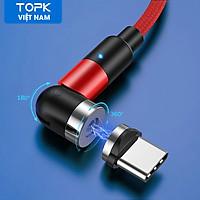 Cáp Nam Châm TOPK AM59 - USB 3 in 1 , cáp Bện Nylon 1M 2M Cho Xiaomi Samsung Sạc Điện Thoại Di Động Dây USB