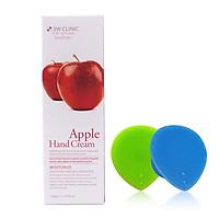 Kem dưỡng da tay chiết xuất Táo Hàn Quốc cao cấp 3W Clinic Apple Hand Cream (100ml) + Tặng Dụng Cụ Rửa và Massage Mặt Silicon Mềm Dẻo Hàn Quốc Suri Facial Cleansing Fad – Hàng Chính Hãng