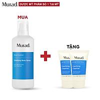 Chai xịt Murad Clarifying Body Spray 125ml Tặng 2 Sữa rửa mặt Clarifying Cleanser 15 ml