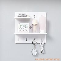 Giá dán tường để đồ, tấm nhựa có lỗ để trang trí, kệ để trang trí kệ để gổ treo tường