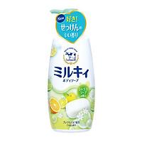 Sữa tắm hương cam chanh milky body soap Cow - Chai 550ML