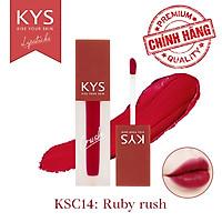 Son Kem Lì Đỏ Nhung Chocolate Không Chì KYS Crush 3.5g