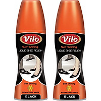 Combo 2 chai xi nước đánh bóng giày Vilo liquid shoe polish 80ml (màu đen)