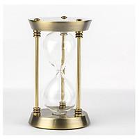 Đồng hồ cát bọc kim loại vàng sáng bóng