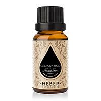 Tinh Dầu Hoàng Đàn Cedarwood Essential Oil Heber | 100% Thiên Nhiên Nguyên Chất Cao Cấp