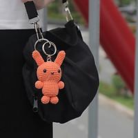 Thỏ thú nhồi bông len móc thủ công [handmade] - 9cm  - móc khoá