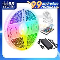 Led dây dán RGB đổi màu trang trí dán tường, máy tính, bàn làm việc, đèn led 5050, 2835 - Chính hãng DEHA