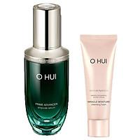 Combo Tinh chất chống lão hóa OHUI Prime Advancer Ampoule Serum 20ml + Tặng 1 Sữa rửa mặt OH Miracle foam 40ml