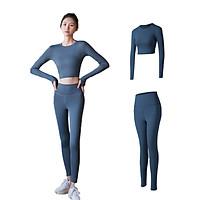 Bộ đồ tập Yoga thời trang cạp cao nâng mông siêu co dãn thấm hút mồ hôi tốt, nhanh khô