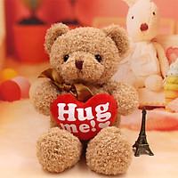 Gấu bông TEDDY LÔNG CHỈ HUG ME VÀNG - HÀNG NHẬP KHẨU