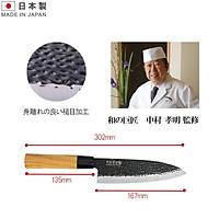 Dao thái làm bếp cán gỗ, lười bằng Titanium cao cấp thương hiệu Sumikama - hàng nội địa Nhật Bản