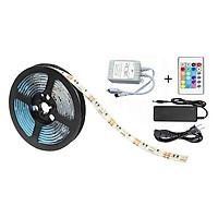 Bộ đèn LED dây dán 5050 phủ keo silicon đổi 7 màu V-L-D-RGB (RGB)+Nguồn 5a+Khiển