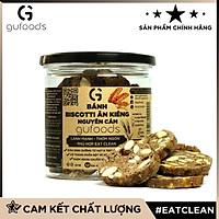 Bánh Biscotti ăn kiêng Nguyên cám GUfoods (có 3 vị: Nguyên bản + Socola + Matcha) - Lành mạnh, Thơm ngon, Phù hợp Eat clean