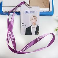Card đeo thẻ RM BTS kèm dây đeo BTS WORLD