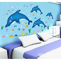 Decal dán tường Cá heo nhảy múa AmyShop DB023