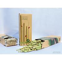 Ống hút cỏ bàng Huỳnh Lâm - Grass Straw - 100 ống/hộp