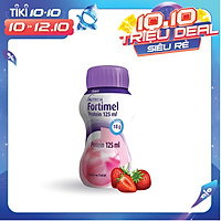 Sữa nước Fortimel Protein 125 mL hương dâu (lốc 4 chai)