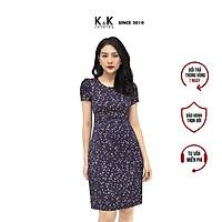 Đầm Công Sở Nữ Form Chữ A K&K Fashion KK105-33 Hoa Nhí Vải Lụa
