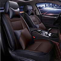Bộ áo ghế DA ô tô bản CAO CẤP cho 5 chỗ ngồi A60 - Gồm 2 gối tựa LƯNG + 2 gối tựa ĐẦU ghế xe hơi đẳng cấp