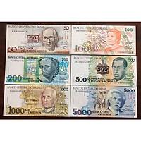 Sét tiền cổ Brazil 6 tờ sưu tầm