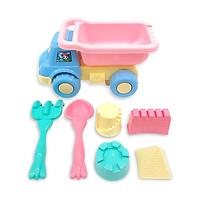 Đồ chơi xúc cát xe ben đi biển màu Pastel HT7670