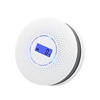 Smoke and Carbon Monoxide Alarm Smoke Detector Carbon Monoxide Detector Powered by Battery with LCD Display Voice