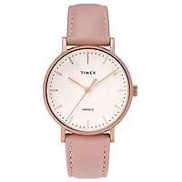 Đồng hồ Dây Da Nữ Timex Fairfield 37mm Leather Strap Watch - TW2T31900