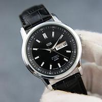 Đồng hồ nam dây da cao cấp SE3235 chống nước 3ATM - Thiết kế sang trọng, lịch lãm – Tặng pin dự phòng