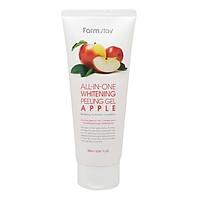 Tẩy Tế Bào Da Chết Trắng Da Chiết Xuất Từ Táo Farmstay All In One White Peeling Gel Cream Apple (180ml)