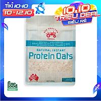 Yến mạch ăn liền nguyên chất giàu Protein Red Tractor Foods dạng gói 400gr - nhập khẩu Úc