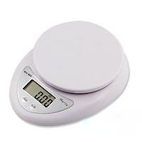 Cân Thực Phẩm Điện Tử 5kg Để Bàn Nhà Bếp Màn Hình LCD - Tặng kèm 2 pin