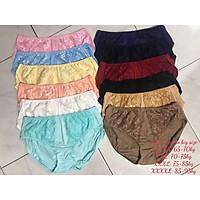 Set 10 quần lót nữ Thun cotton Cạp cao dành cho ng ư ời m ập béo ren tr ư ớc (Từ 60kg đến 100kg)