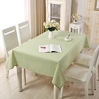 Khăn trải bàn vải canvas caro xanh lá KB31