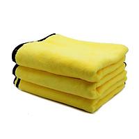 Bộ 3 khăn lau xe ô tô cao cấp siêu thấm, siêu hút