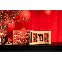 Set quà Tết nhụy hoa nghệ tây Saffron Bahraman 2 hộp 1Gram/hộp Tặng Hoa Cúc 10 Gram