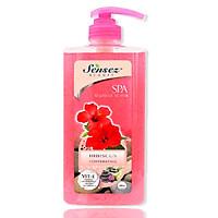 Sữa tắm Sensez Beauty Dưỡng ẩm Hương  Hibiscus có hạt massage, 680ml (giao loại ngẫu nhiên)