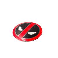 Sticker metal dán mâm xe hơi tròn 5.5cm - Deadpool miếng lẻ