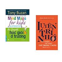 Combo 2 cuốn sách: Tony Buzan - Bí Quyết Học Giỏi Ở Trường + Luyện Trí Nhớ