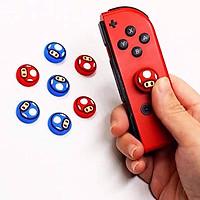 Set 4 núm bọc cần analog joy-con switch nấm mario xanh đỏ giao mầu ngẫu nhiên